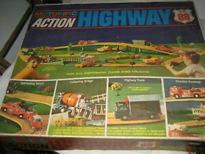 1967 Ideal Motorific Action Highway Track Pieces and accessories