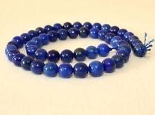 Perline sfuse di gemma blu rotondi