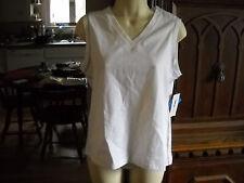 Nwt White Style & Co Sport Sleeveless Cotton/Spandex Tank Size Pm Petite Medium