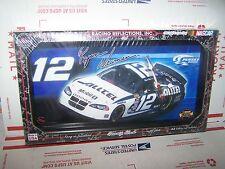 NASCAR RYAN NEWMAN  NO. 12  - 7 X 13 WOOD FRAME CLOCK-WALL OR DESK
