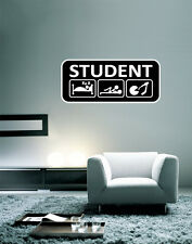"College Student Funny Wall Decal Large Vinyl Sticker 28"" x 12"""