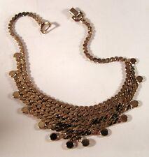 Vintage Coro Egyptian Gold Tone Bib Necklace Des.Pat. Pend.