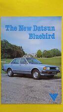 DATSUN Bluebird SALOON ESTATE COUPE BROCHURE CATALOGO MARZO 1981 Nuovo di zecca NISSAN