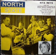 """Dutch Swing College Band and Rita Reys - North State cigarettes  (7"""" EP 1961)"""
