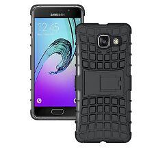 Samsung Galaxy A3 (2016) negro resistente a prueba de choques a duro caso para cubrir Protector