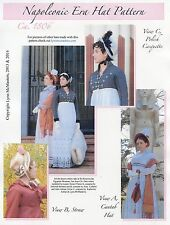 Ladies Napoleonic 1806 Era Hat in 3 Styles - Lynn McMasters Sewing Pattern #55