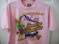 Vintage 80s Pan Am Games T Shirt L Indianapolis Motor Speedway Indy 500 Indiana