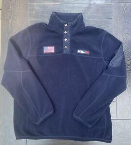 RLX Polo Ralph Lauren Polo Sport Blue Flag American Fleece Pullover Jacket 2XL
