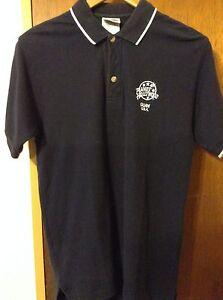 Planet Hollywood Guam USA Men's Black Polo Shirt 1998 PHRIV Size Small Vintage