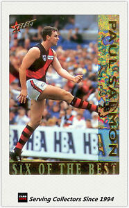 1995 Select AFL SIX OF THE BEST Trading Card SOB6 Paul Salmon (Essendon)