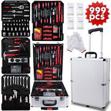 999 pcs Tool Set Standard Metric Mechanics Kit with Trolley Case Box