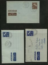Norway 3 air letter sheets used Ms0114