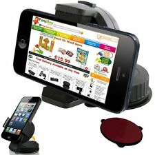 SUPPORTO CON VENTOSA PER AUTO ADATTO PER IPHONE 5 4 4S SAMSUNG GALAXY S2 S3
