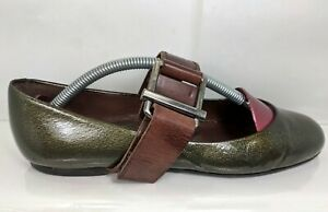 MARNI Green Patent Mary Jane EU 39 Made In Italy