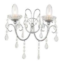 Artículos de iluminación de pared de interior de color principal plata cristal