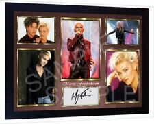 Marie Fredriksson Roxette signed autograph Music pre-print poster photo Framed