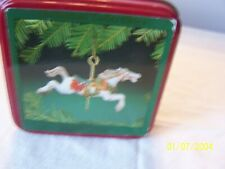 Willitts Carousel Porcelain Horse Ornament in Tin Box