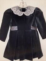Laura Ashley New Prairie Black Mother & Child Dress White Lace Collar 2 NWT