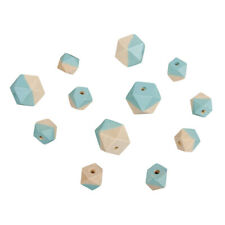 Beads Wood With Facets Blue - Rayher