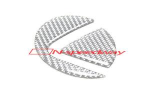 Gray Carbon Fiber Rear Trunk Lid Logo Emblem Filler Sticker For 06-11 Lexus GS