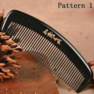 Ladies Men's Comb Nature Ox Horn Fine-toothed Anti-static Pocket Health Massage
