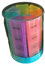 Small Pill Organizer 7 Day Weekly Tower Travel Pills Box