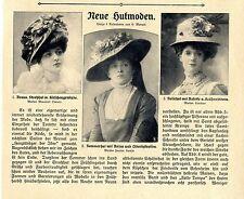 Nouvelle hutmoden maison Marescot soeurs Jeanne Lamin levilion nouvelle Birot... 1908