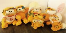 VINTAGE GARFIELD Lot Of 6 Stuffed Animals Plush Dakin 1978 Toys Some With Tags.