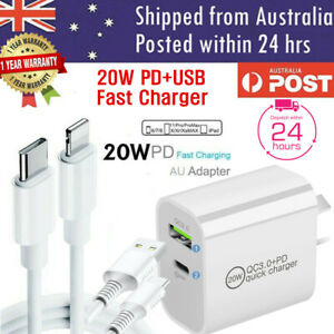 20W DUAL USB + Type-C Wall Adapter Fast Charger PD Power For iPhone 12 11 Pro