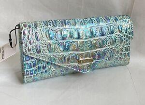 New Brahmin Melbourne Veronica Embossed Leather Envelop Wallet WONDERLAND