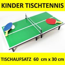 Kinder Tischtennis Platte 60 x 30 cm Set komplett 2 Schläger Mini Netz Ball