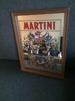 Vintage Martini Vino Vermouth Advertising Mirror