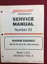 New listing Mercury Used Service Manual 1999 # 23 Marine Engines 90-861326-1 2 Books # 293