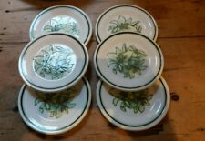 ROYAL WORCESTER  PALISSY ORCHID (6 TEA PLATES ) 6.25  INCHES EXCELLENT