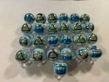 ALCOHOLICS ANONYMOUS AA glass token marbles 5/8 size LOT With STANDS