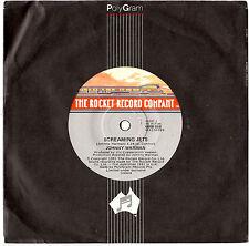 "JOHNNY WARMAN - SCREAMING JETS / AMERICAN MACHINES - 7"" 45 VINYL RECORD 1981"