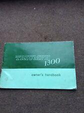 Triumph 1300 Original Dealer instruction Owners Manual 1968