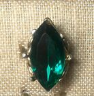 VINTAGE Cocktail Gothic Goth Steampunk Punk RING GREEN Glass Stone Adjustable
