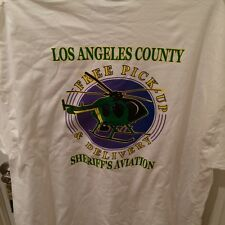 LASD police off duty T Sheriff Deputy Air support shirt Helicopter Size 2XL