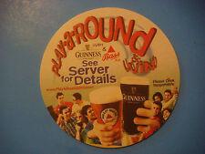 2000 Beer Coaster ~ GUINNNESS & BASS ~ Play A Round & Win; Adams Golf Tight Lies