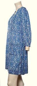 Ex John Rocha Tunic/Dress Blue Print Sizes 8 10