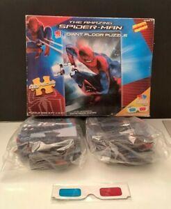 NEW - Marvel The Amazing Spiderman 3D Giant Floor 48-PIECE Puzzle + Glasses