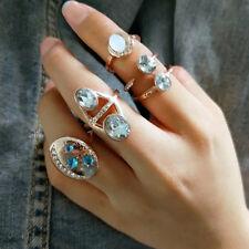 KD_ 5Pcs Boho Rhinestone Above Knuckle Midi Stacking Ring Women Pub Jewelry Ut