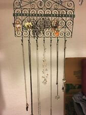 CUTE Jewelry & Organizer (7 Pairs of Earrings, 10 Necklaces)