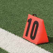 Pro-Down Solid Sideline Markers with Handle - 11 Piece Set