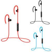 Wireless Bluetooth Headset Stereo Bass Headphone Earphone Sport Earbud With Mic