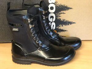 Bogs Sidney Black Laceup Boot Women's US 11 Euro 42