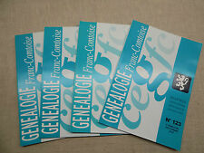 LOT Généalogie Franc-Comtoise 4 Bulletins Année 2010 Complète Franche-Comté