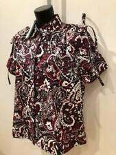 BNWT KENZO Burgundy Paisley Mao Collar Feminine Top rrp £225 Fr 38 / Uk 8 /Eu42