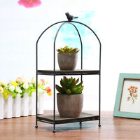 Metal Plant Stand Flower Pot Garden Shelf Bird Cage Display Rack Outdoor  -)
